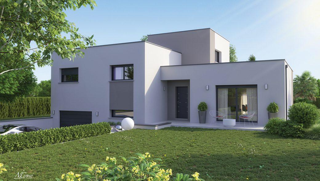 Maison design toit terrasse à Monistrol sur Loire 43120