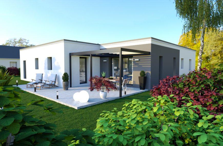 OXYACANTHA, maison plain-pied à toit plat, 3 chambres