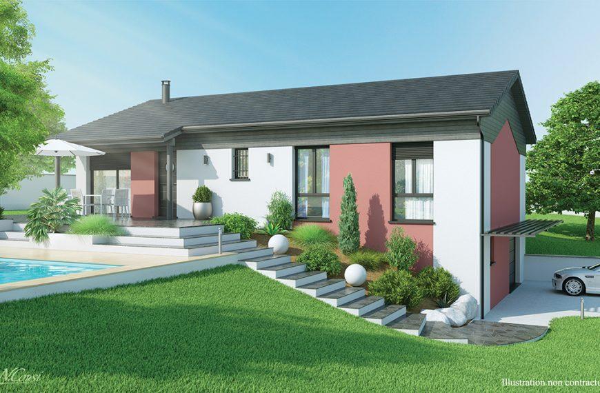 Maison moderne sur sous-sol à Saint Maurice de Lignon 43200