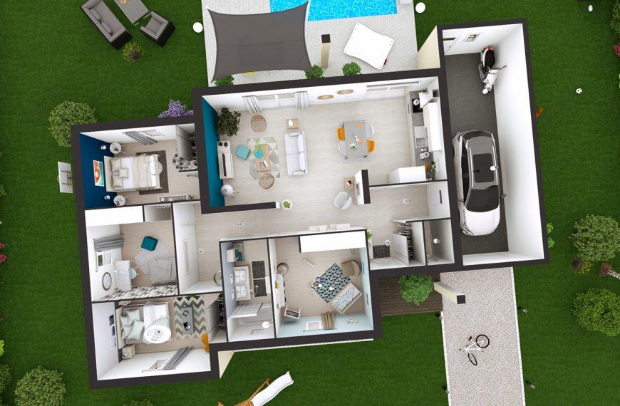 Maison design à toit plat à Coubon 43700