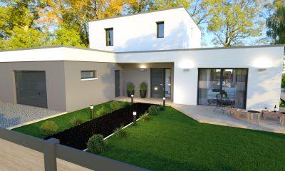 maison toit plat design monistrol sur Loire