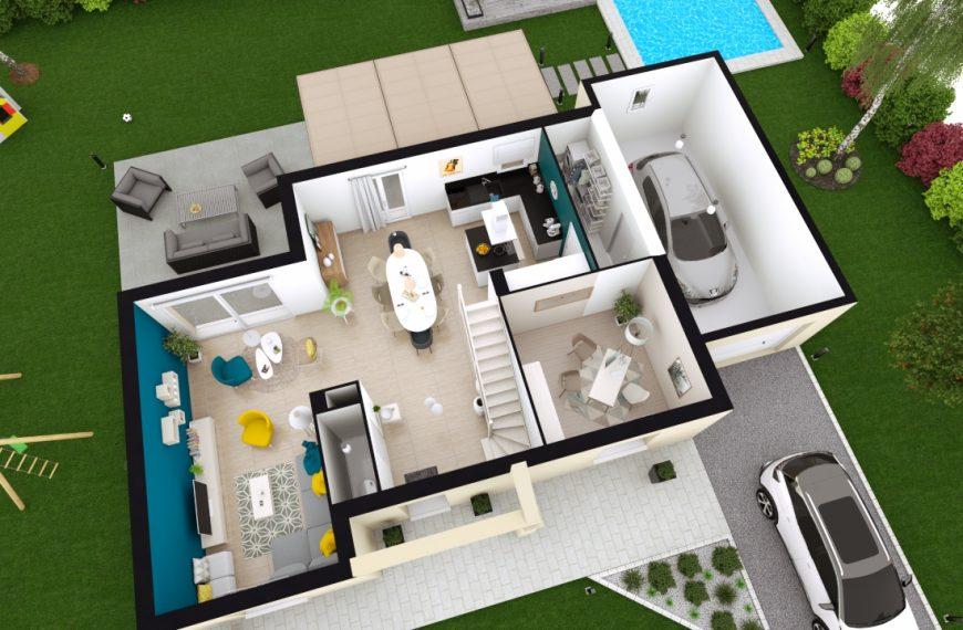 Maison toit plat design à Monistrol sur Loire 43120