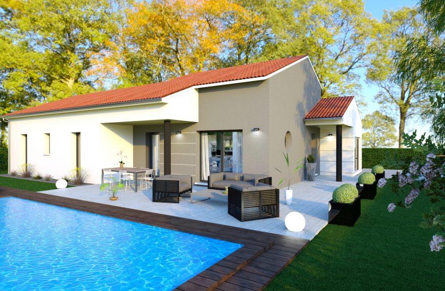 Maison contemporaine entre Brives (43700) et Le Monteil (43700)