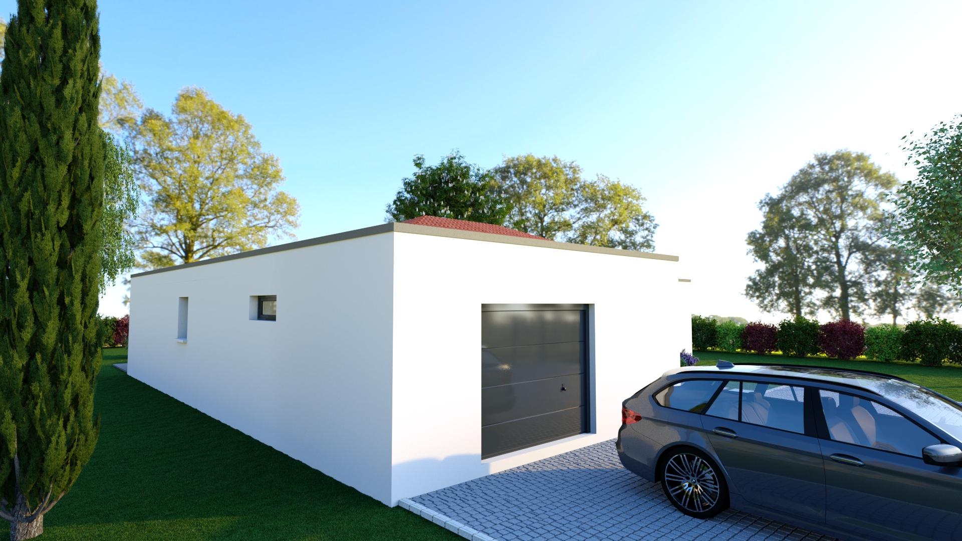 AMAZONITE, maison plain-pied toiture mixte, 3 chambres - LogiVelay