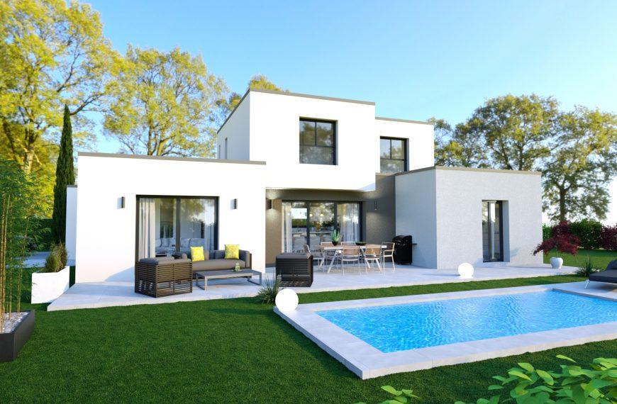 maison d'architecte à toit plat avec ce modèle Galine.